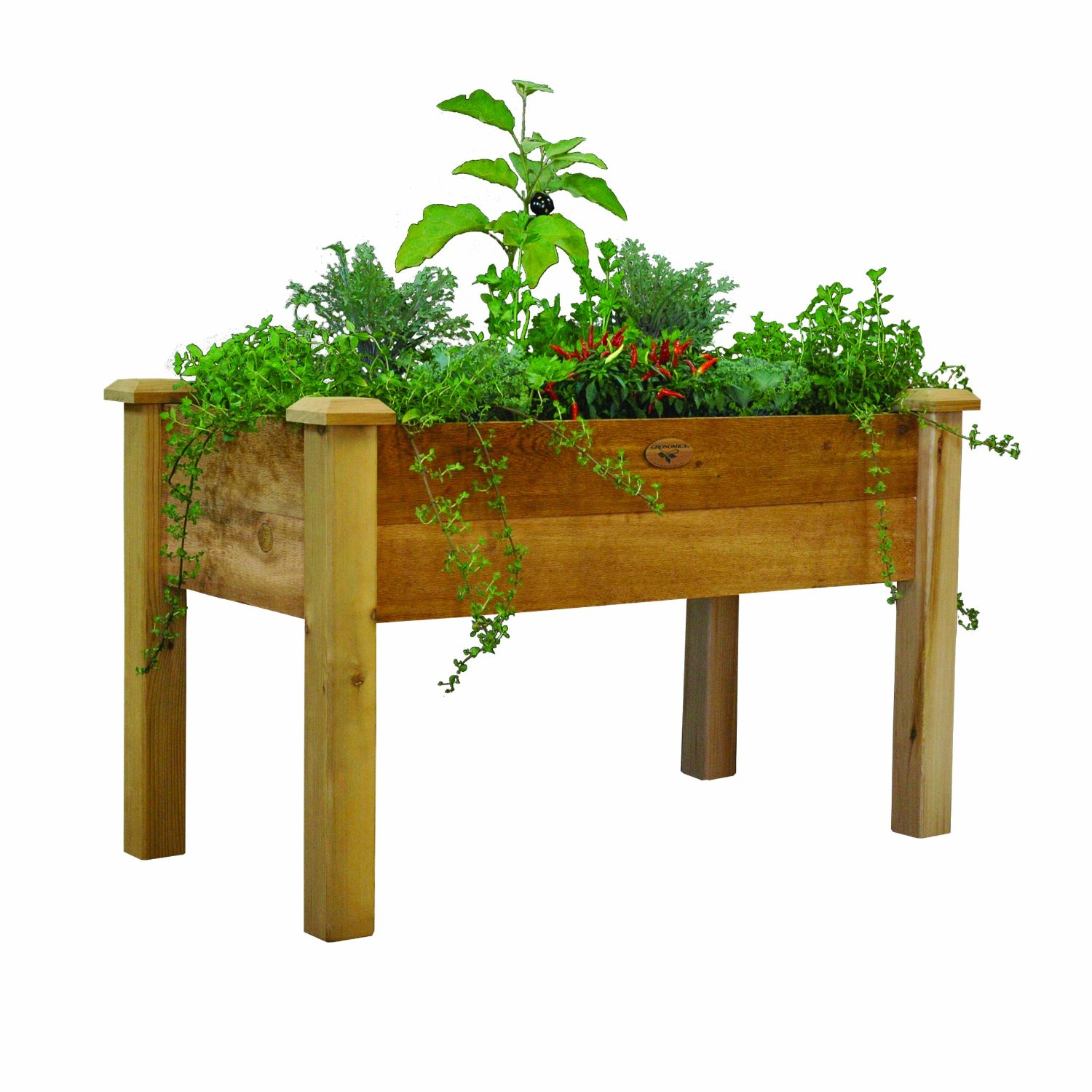 Gronomics REGB 24 Inch By 48 Inch By 30 Inch Rustic Elevated Garden Bed